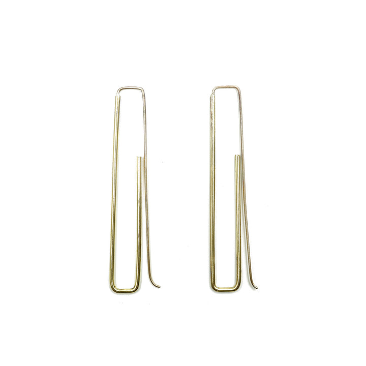 Emmy Earrings in Brass