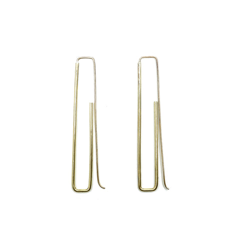 Brass Emmy Earrings