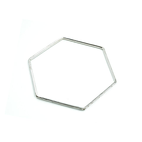 Honeycomb Bangle in Sterling Silver