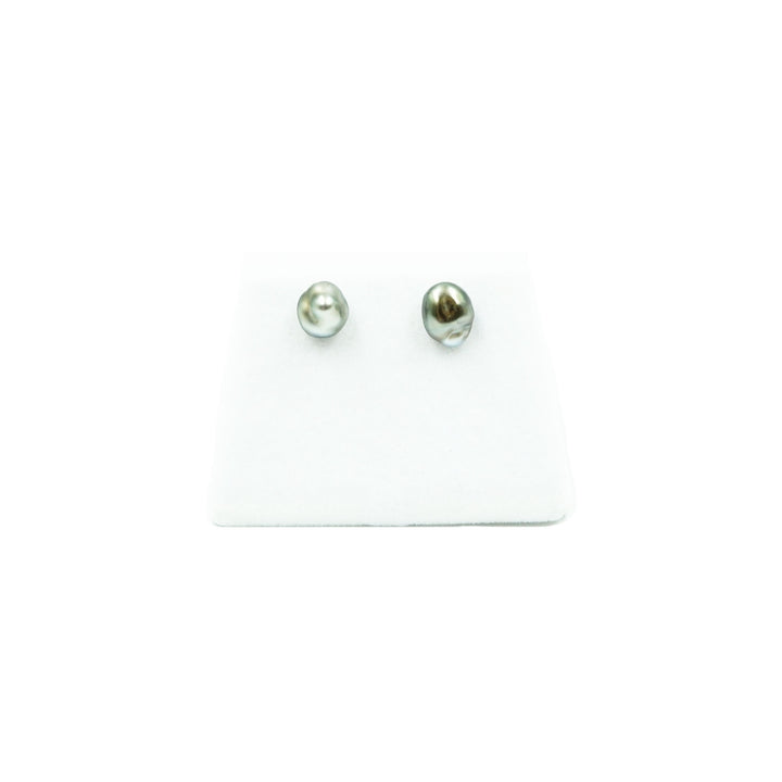 Keshi Pearl Stud Earrings by Kamoka