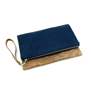 Foldable Leather Clutch Kendo-Gi Sasha-Ori