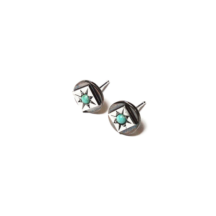 Silver Turquoise Starset Earrings by Lady Faye
