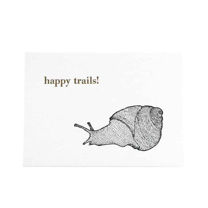 Happy Trails Snail Card