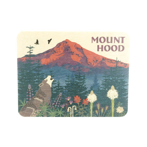 Mt. Hood Wood Postcard