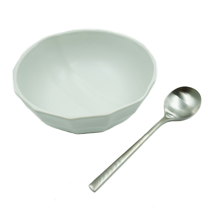 Solid Channel Bowl + Pairing Spoon by Luke & Lucy