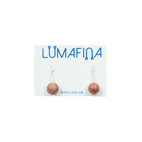 Short Gold Rhondite Orb Earrings
