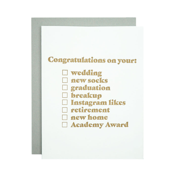 Congratulations Card by MadeHere PDX