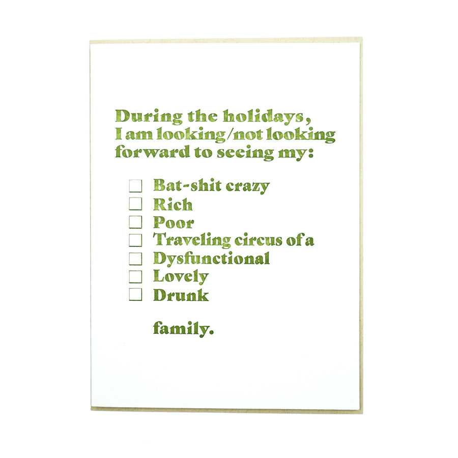 During the Holidays Family Card by MadeHere PDX