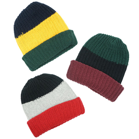MadeHere Color Block Knit Beanie