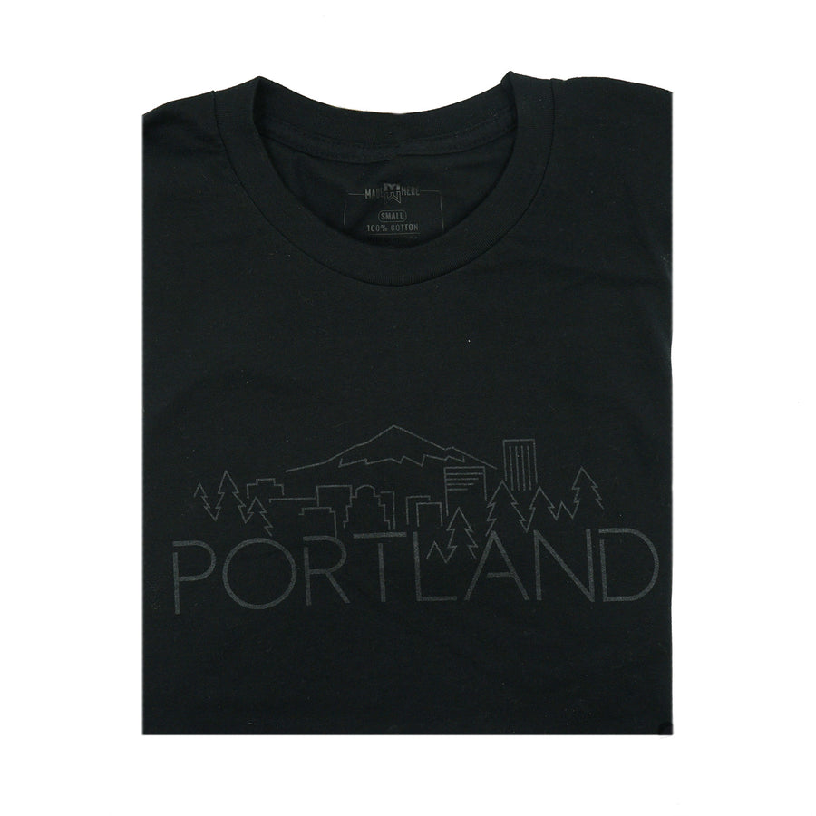 Portland Skyline Black/Gel Shirt by MadeHere PDX