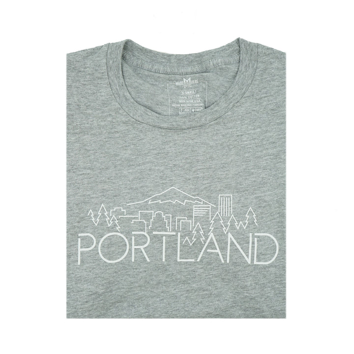 Portland Skyline Heather Grey Shirt by MadeHere PDX