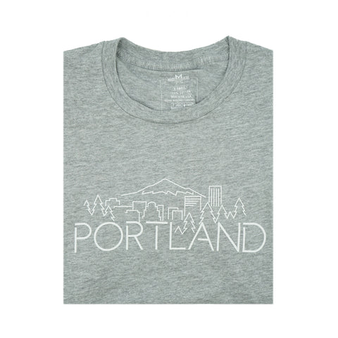 Portland Skyline Heather Grey T-Shirt