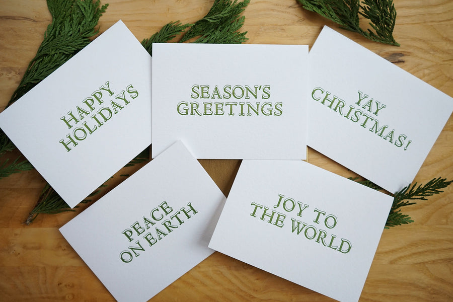 Snow Letters Holiday Card Box Set by MadeHere PDX