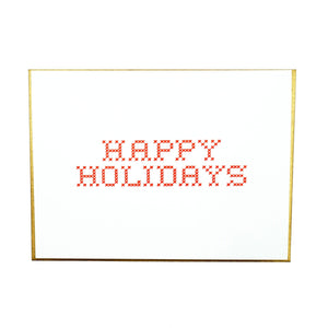 Cross Stitch Happy Holidays Card Box Set by MadeHere PDX