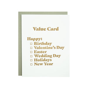 Value Card by MadeHere