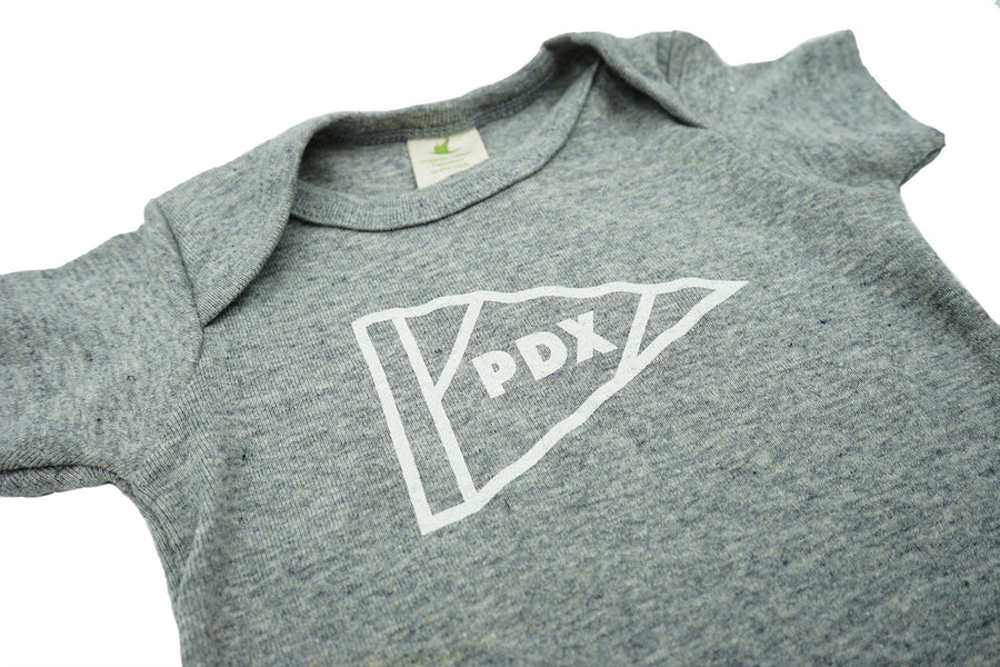 Portland Pennant Onesie by MadeHere PDX