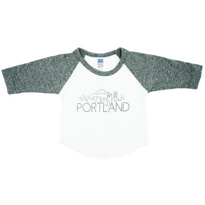 Portland Skyline Kids Shirt by MadeHere PDX