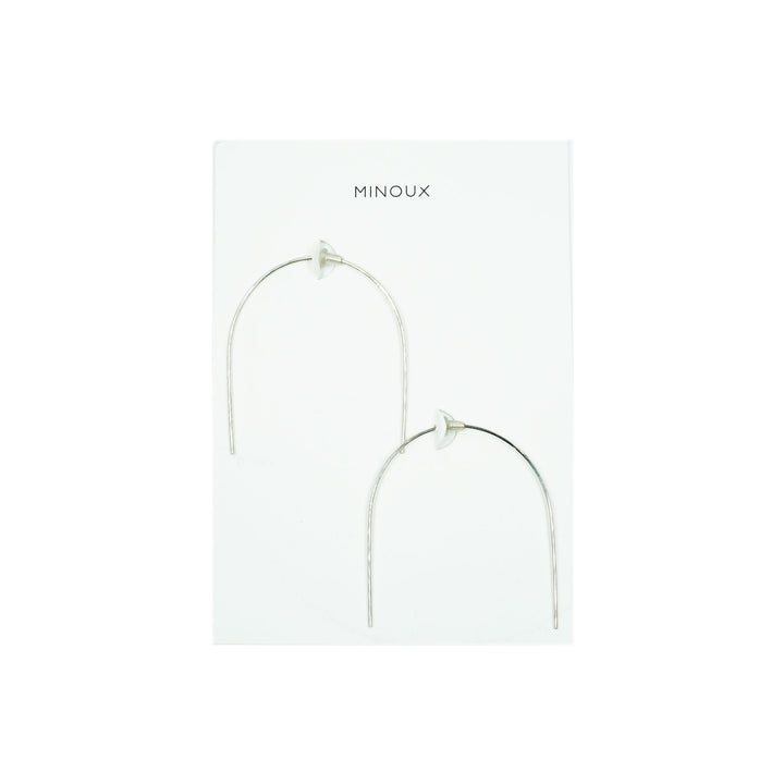 Open Arch Hoop Earrings by Minoux