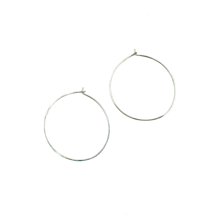 Organic Circle Hoop Earrings by Minoux