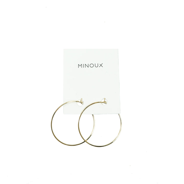 14k Gold Fill Round Hoops by Minoux