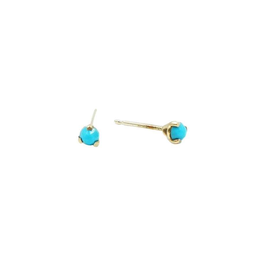 Sleeping Beauty Turquoise Studs by Minoux