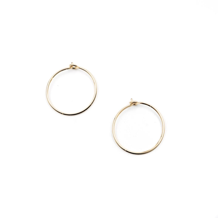 "3/4"" Gold Hoops Square Wire by Minoux"