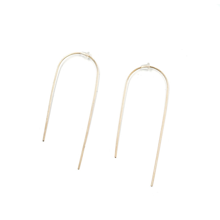 "2 3/4"" Thread Simple Earring 14k Gold Fill by Minoux"