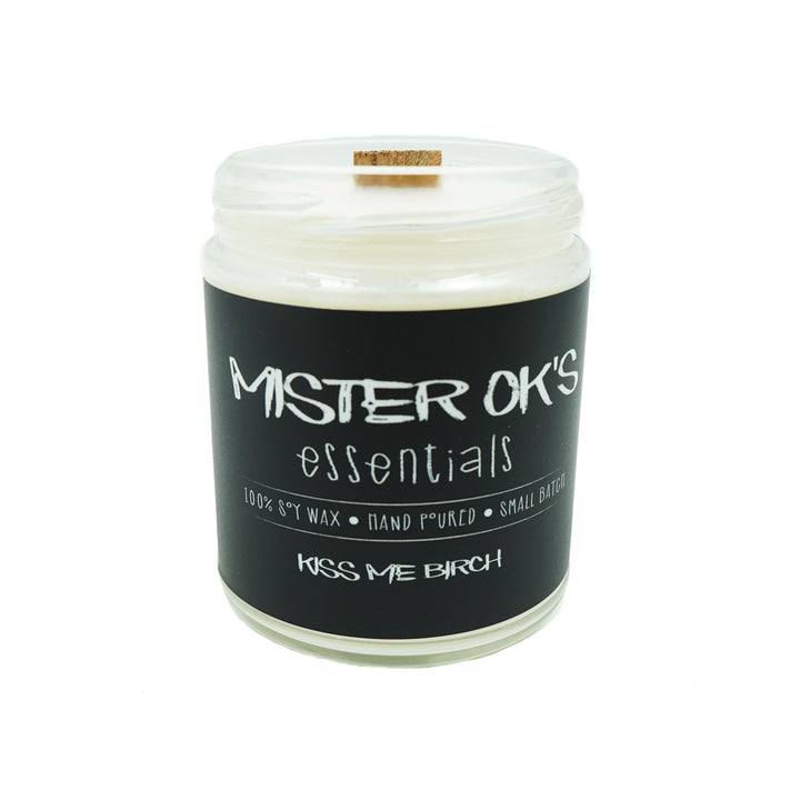 Kiss Me Birch Candle 9oz by Mister OK's Essentials