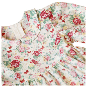 Vintage Floral & Butterfly Dress