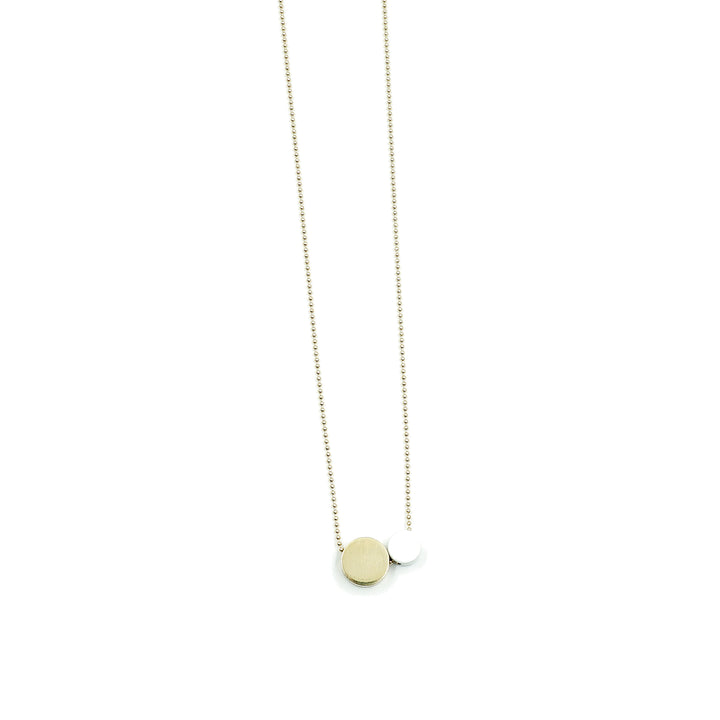 Nome White & Brass Necklace