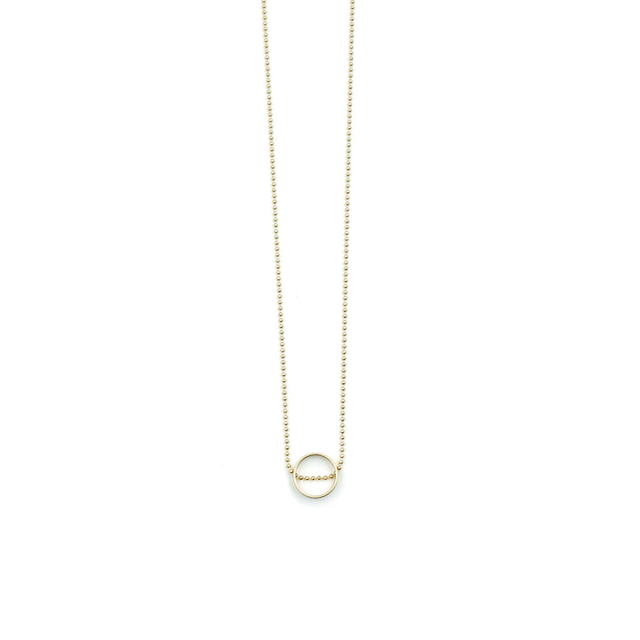 Un Matte Gold Plated Brass Necklace by Nordy