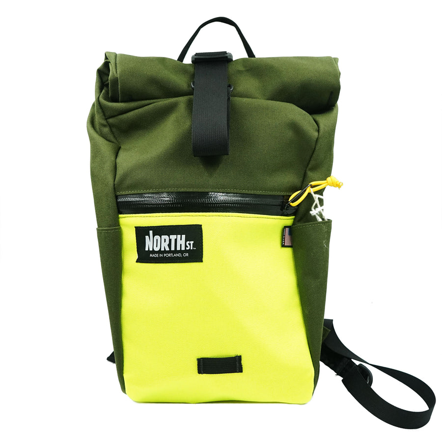 North St. Davis Daypack Olive Green Yellow