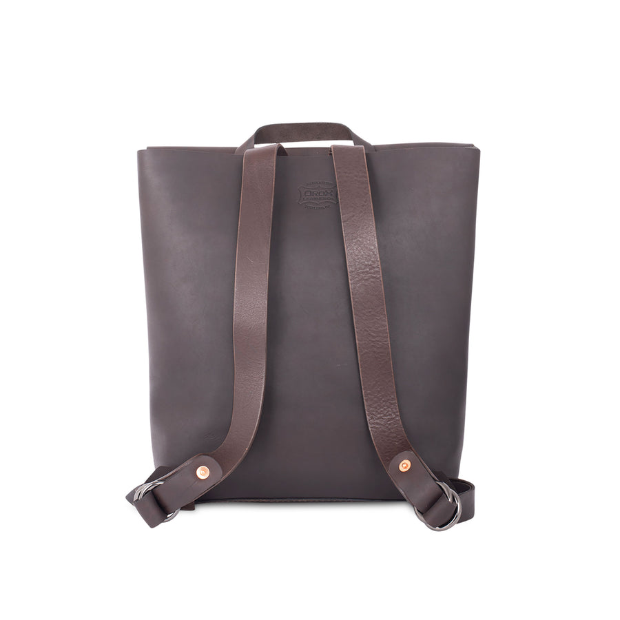 Leather Courier Backpack by Orox Leather Co.