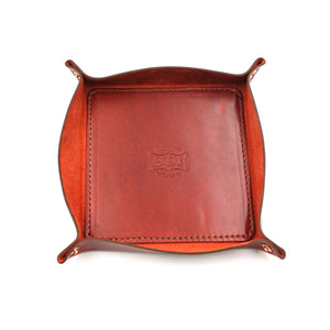 Red Leather Tray (MadeHere Exclusive) by Orox Leather Co.