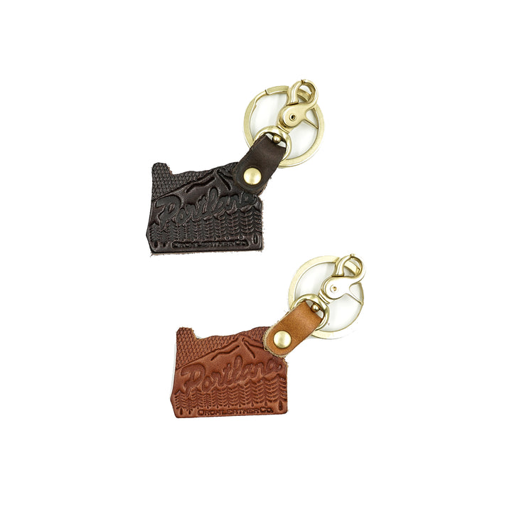 Oregon Leather Keychain