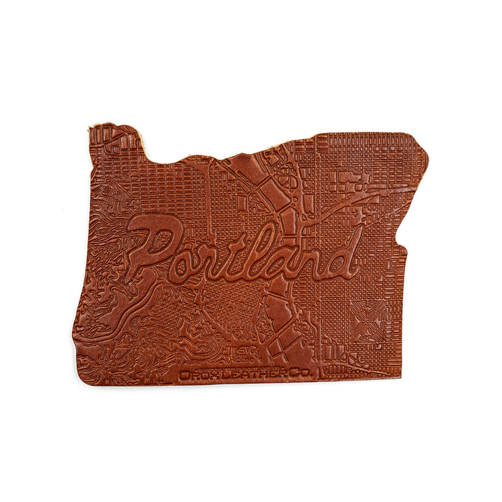 Portland Leather Coaster