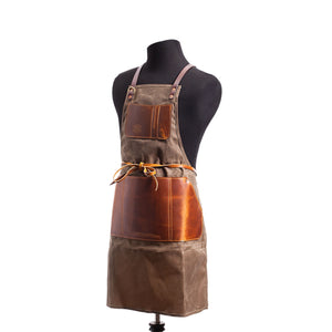 Tradesman Apron Waxed Canvas by Orox Leather Co.
