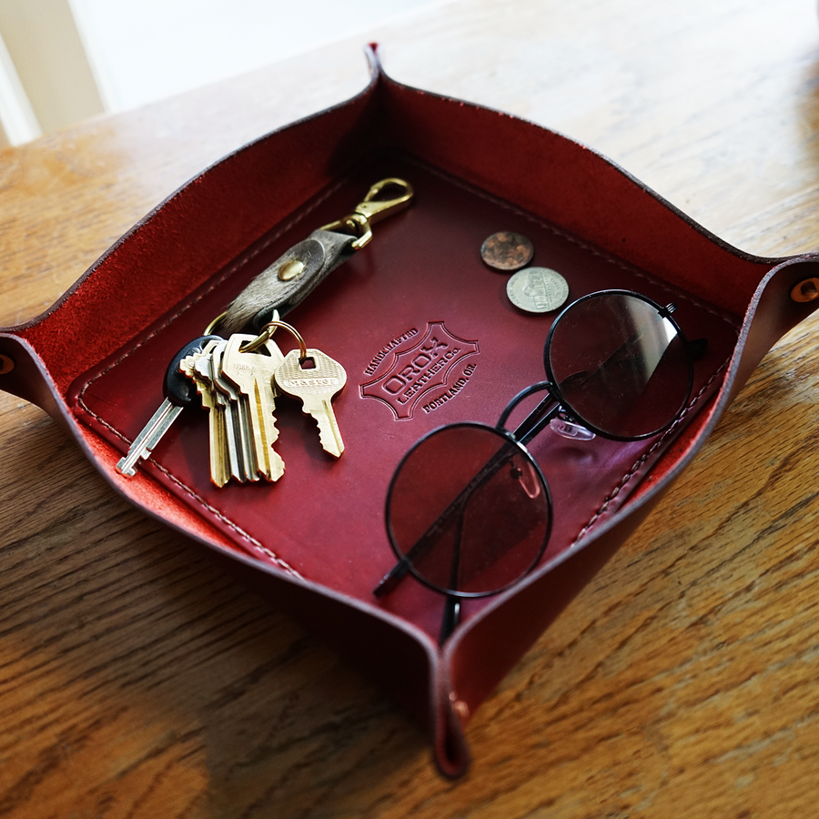 Orox Leather Co. Red Tray