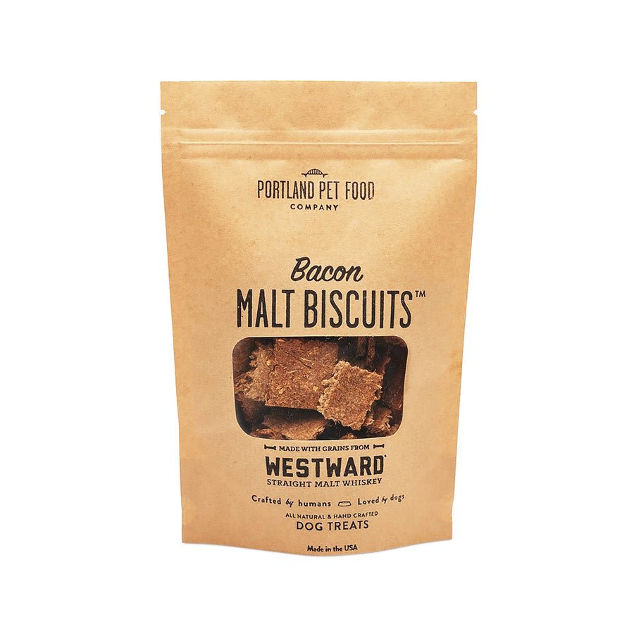 Dog Treats by Portland Pet Food Company Malt Biscuits with Bacon