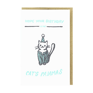 Cat's Pajamas Card