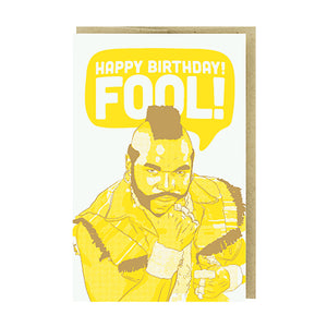 Happy Birthday Fool Card by Pike Street Press