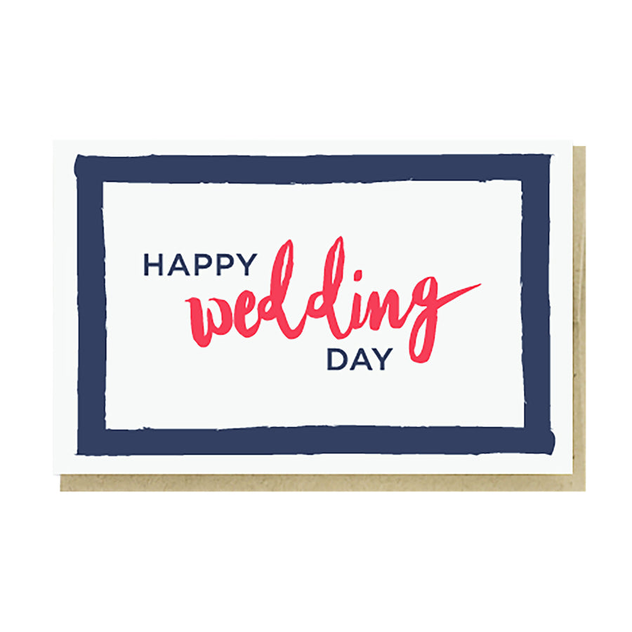 Happy Wedding Day Card by Pike Street Press