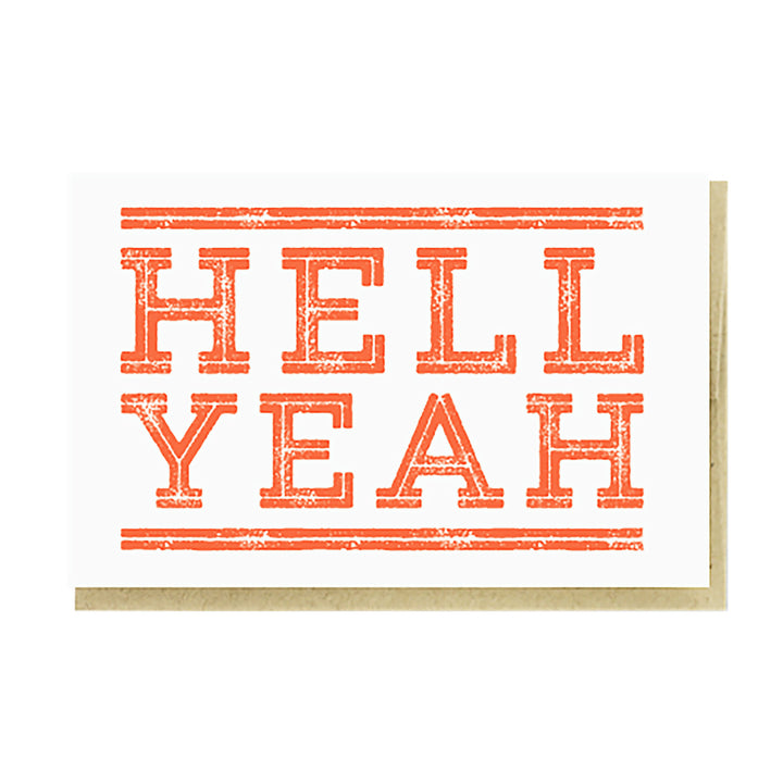 Hell Yeah Card by Pike Street Press