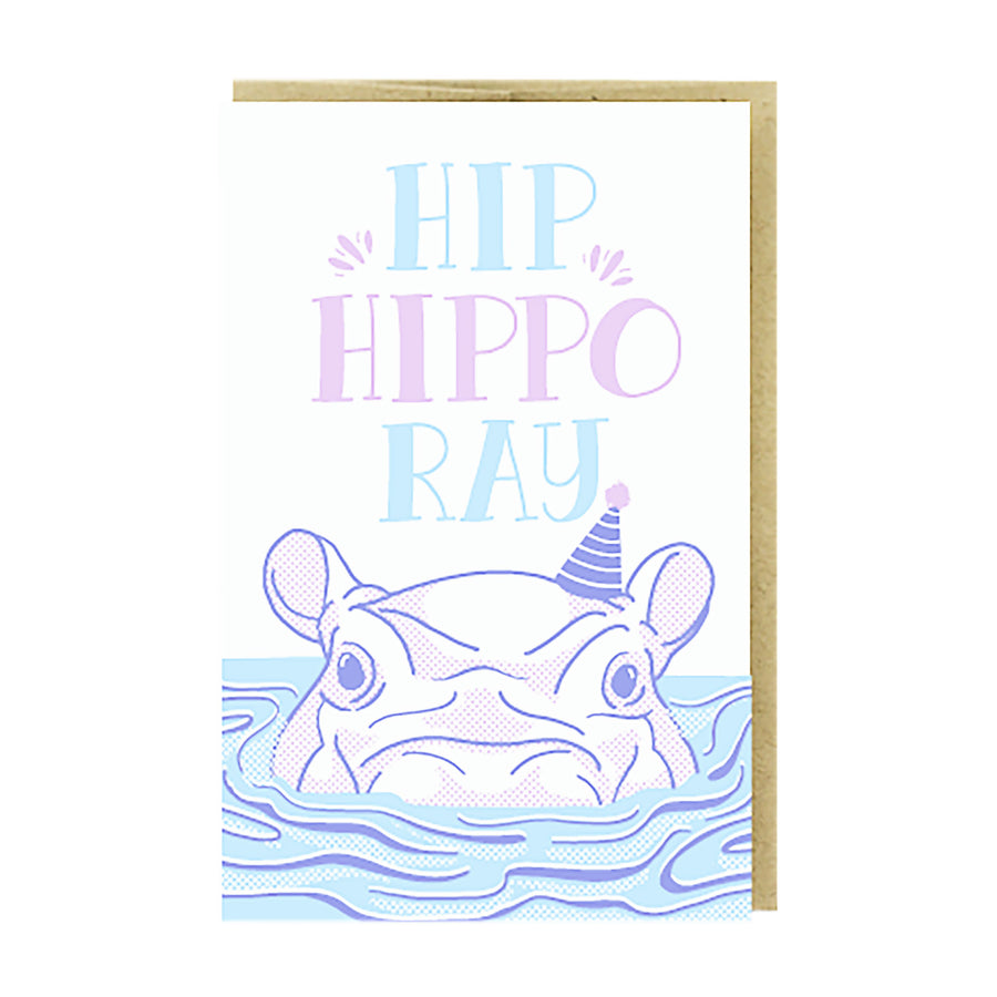 Hip Hippo-Ray Card by Pike Street Press