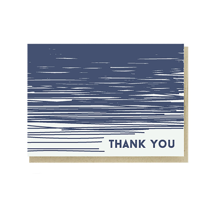 Thank You Lines Card by Pike Street Press