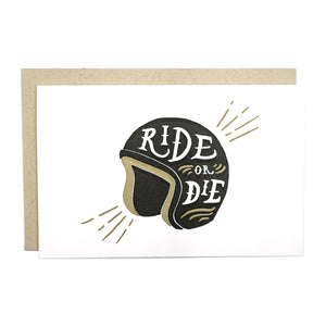 Ride or Die Helmet Card