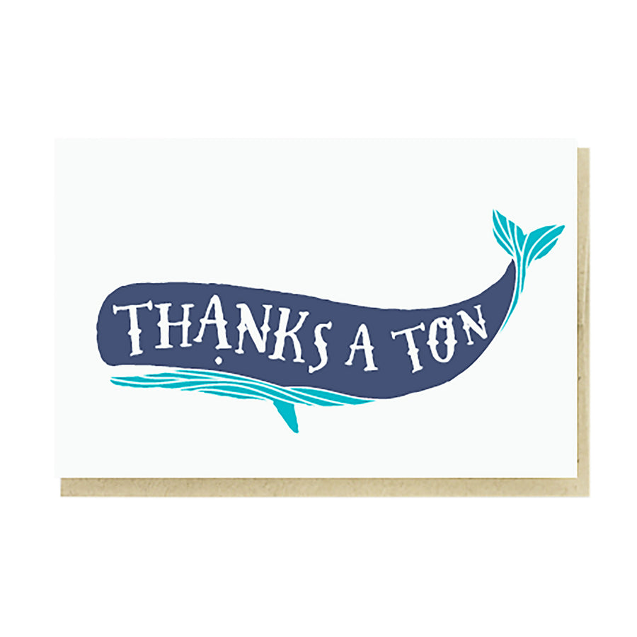 Thanks a Ton Whale Card by Pike Street Press