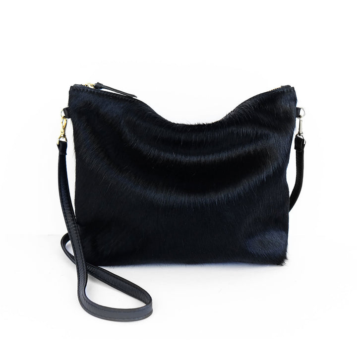 Primecut Mini Hobo Black Cowhide