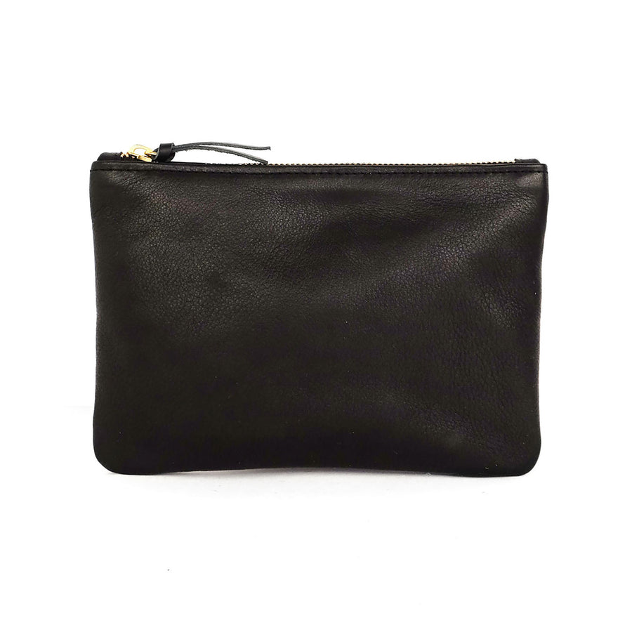 Primecut Zipper Pouch Black Leather