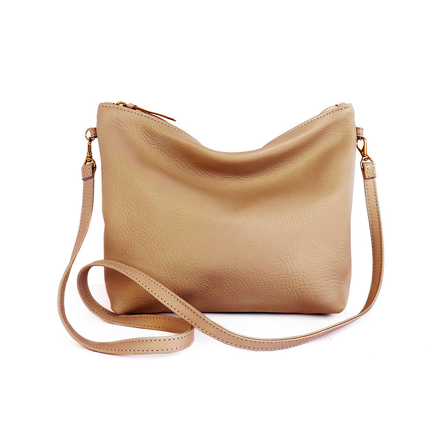 Mini Hobo Purse Primecut Tan Leather